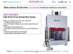 Multi contorno 3D Auto Parts - SCHWABE Prensas de moldeo por compresión