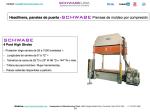 Headliners, paneles de puerta -SCHWABE Prensas de moldeo por compresión