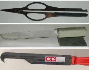 Specific Tools to clear steel rule die cavaties.