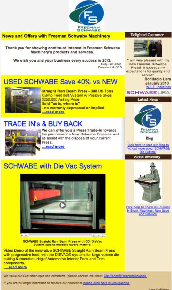 Freeman Schwabe Newsletter