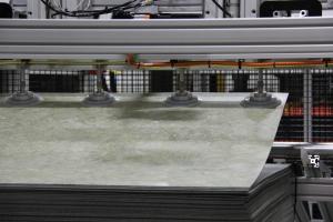 SCHWABE USA - Model SR-180 cutting luxury floor tiles material handling tile feeder