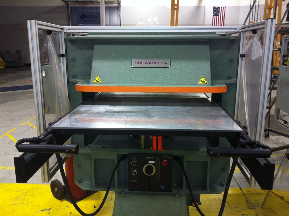 SCHWABE OEM ReManufactured 35 ton Up-Stroking Hydraulic Full Head Cutting Press May 2015 $49,500
