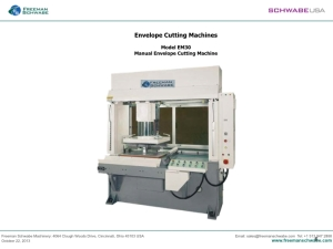 Envelope Cutting Presses