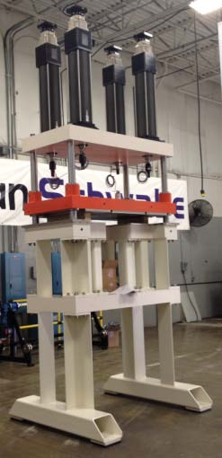 Photo of the Schwabe 4-Post Servo Mechanical Press