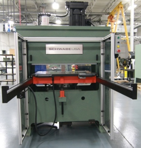 Compact SCHWABE USA Beam Press - Small Footprint High Tonnage