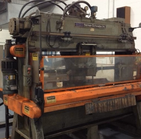 USED Herman Schwabe Inc. Automatic 2 - Axis Traveling Head Hydraulic Cutting Press