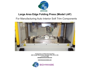 Large Area Edge Folding Press (Model LAF) for manufacturing Auto Interior Soft Trim Components - Freeman SCHWABE