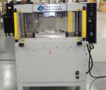Large area folding press auto trim