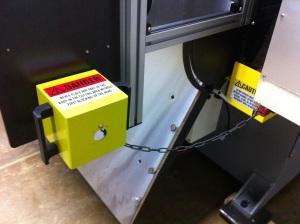 Head Safety Block shown with Safety Interlock Switch