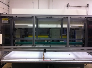 Rear Feed Lexan Panels for clear and easy viewing and access; OSHA Safety compliant