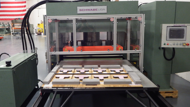 Schwabe cutting foam sr press medical industry