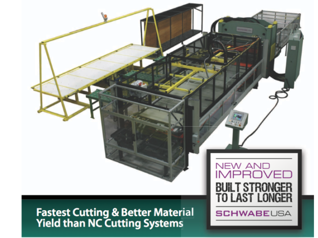 SCHWABE USA Cutting Press - New & Improved +25% FasterLowest Cost Operation for cutting manufacture of high volume Auto Interior Parts / Trim Manufacturing.