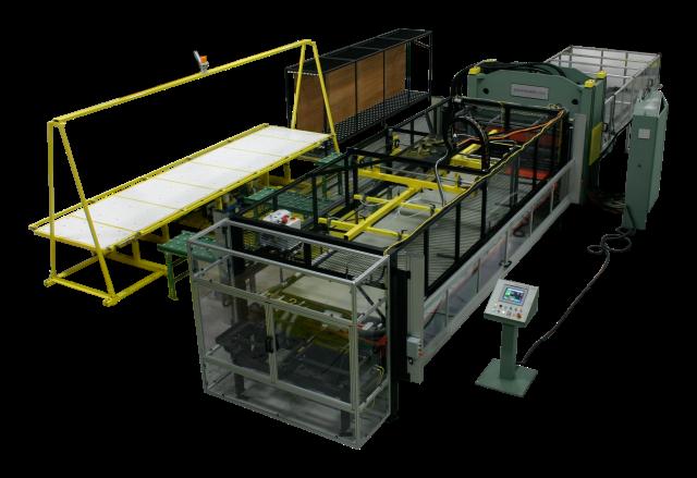 Schwabe SR straight ram beam cutting press with die vac systems