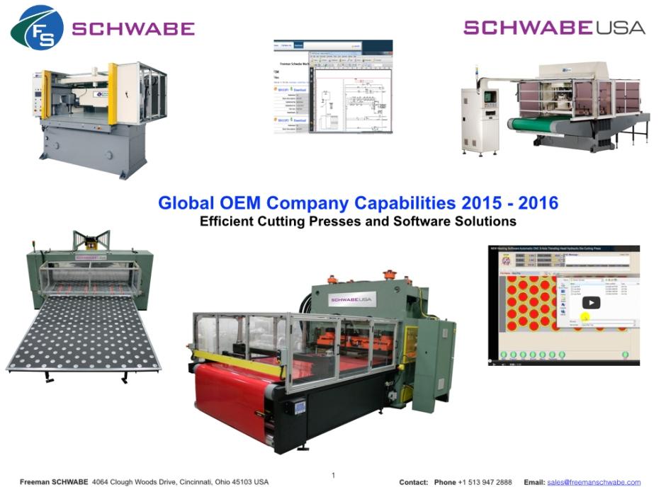 Freeman SCHWABE Company Capabilities 2015 -2016