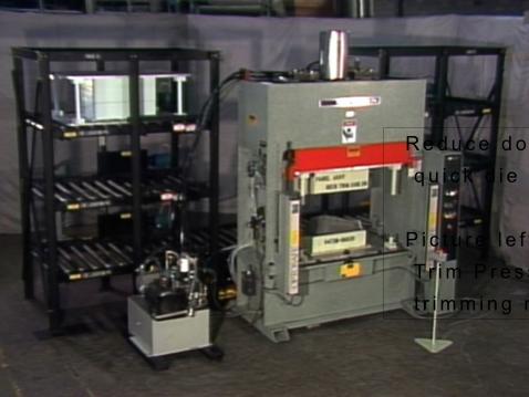 SCHWABE USA SR Series Trim Press with Die Storage & Auto Retrieval System