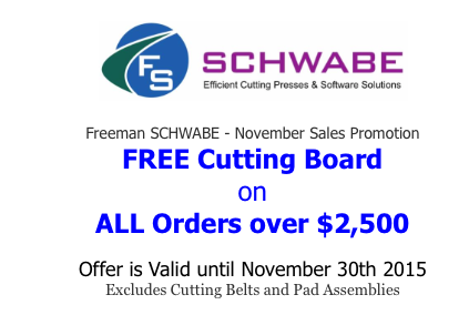 Freeman SCHWABE Free Cutting Board Offer