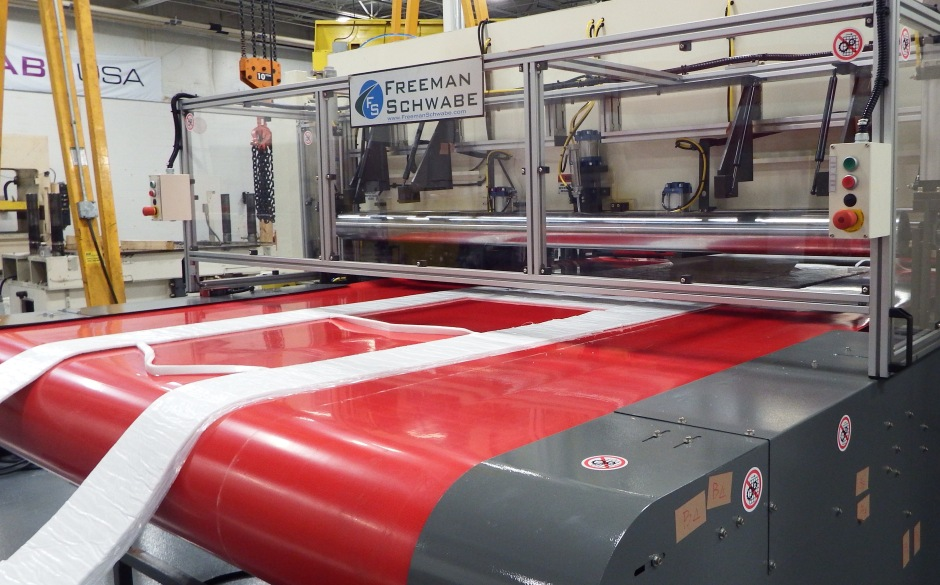 Large Area Hydraulic Beam Press 220 tons