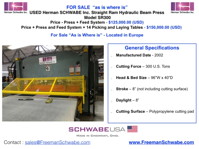 CHarts SR 300 USED Press.002