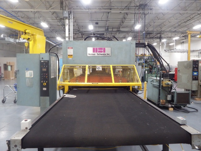 SR 230 tons USED SCHWABE Press For SALE with Infeed/Outfeed nip roller with infeed/outfeed conveyor $65,000