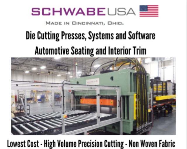 SCHWABE USA Straight Ram Hydraulic Beam Press with Die Cutting Vacuum System Lowest Cost - High Volume Precision Cutting